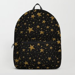 Starry Night Gold Twinkles Backpack