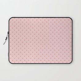 Blush Pink Stars on Light Blush Pink Laptop Sleeve