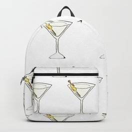 Itsy Bitsy 'Tinis // Watercolor Martini Pattern Backpack