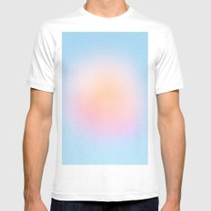 Sweet Sun Blush MEDIUM White Mens Fitted Tee