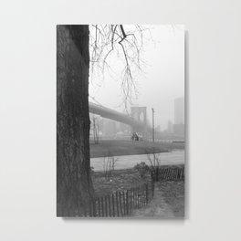 A tree grows & The Brooklyn Bridge Metal Print