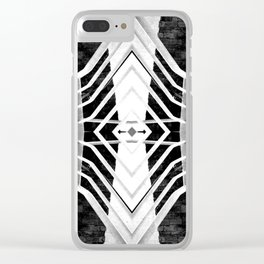 Geometric Construction Clear iPhone Case