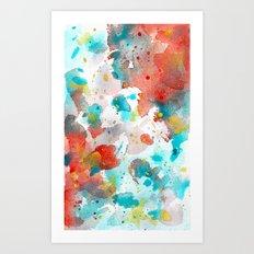 Watercolor abstract I Art Print