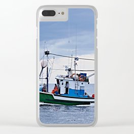 Traditional fishing boat off Tenerife in the Canary Islands Clear iPhone Case