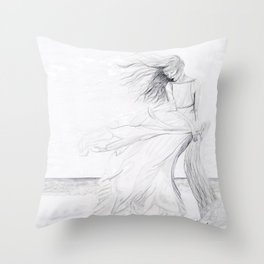 Gracefully Weathering the Storm Throw Pillow