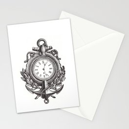 Anchor clock cell phone case Stationery Cards