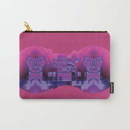 Fractured Portrait in Berry Carry-All Pouch