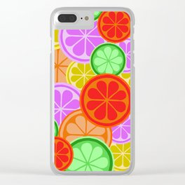 Citrus Explosion - A Pattern of Many Fruits from the Citrus Family Clear iPhone Case