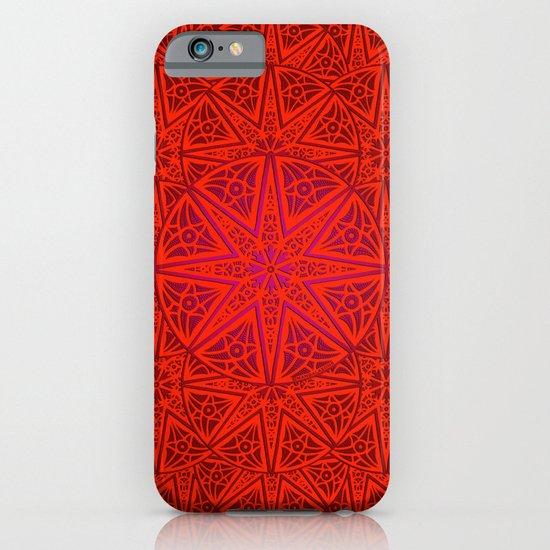 rashim red lace mandala iPhone & iPod Case