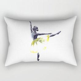 Dancer in yellow Rectangular Pillow