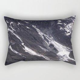 Alaska Snowy Mountain Cool Blue Icebergs Rectangular Pillow