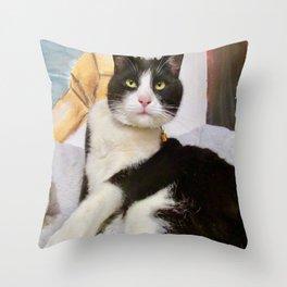 Orazio latin lover cat Throw Pillow