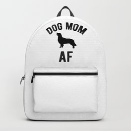 Dog mom AF Goldie Golden Retriever Funny Puppy Backpack