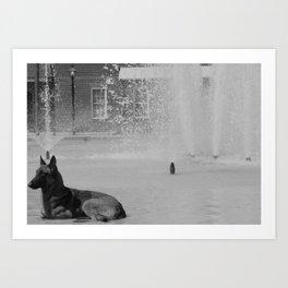 Cooling Off Art Print