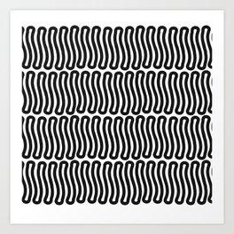 Super Black and White Liquorice laces Art Print