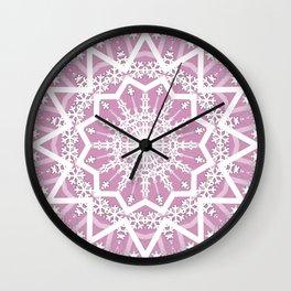 Winter evening . Wall Clock