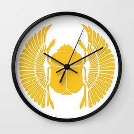 Golden Scarabs Wall Clock