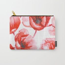 Flora Poppy Carry-All Pouch