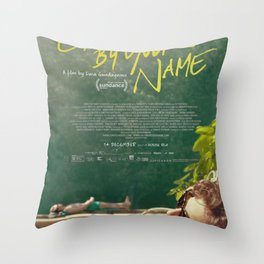 Call Me By Your Name Movie Poster Throw Pillow