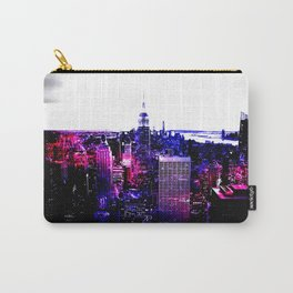 new york City Pink Purple Blue Carry-All Pouch