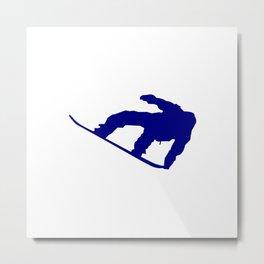 Snowboard Jumping Silhouette Metal Print