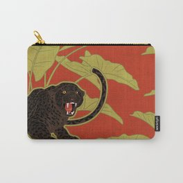 Black Panthers on  Red. Carry-All Pouch
