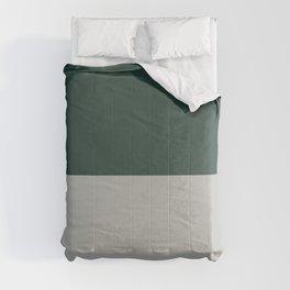 Benjamin Moore 2019 Color of Year Metropolitan AF-690 and Hunter Green Bold Horizontal Stripes Comforters