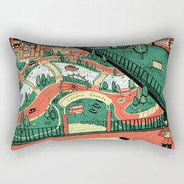vintage music box Rectangular Pillow