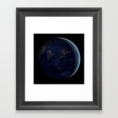 Asia at Night Framed Art Print