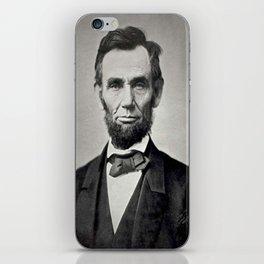 Portrait of Abraham Lincoln by Alexander Gardner iPhone Skin