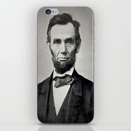 Portrait of Abraham Lincoln by Alexander Gardner iPhone Skin