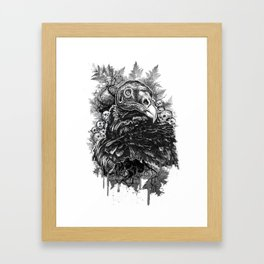 Vulture and Pine Framed Art Print
