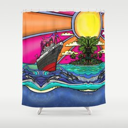 Queen Mary and Dolphins Shower Curtain