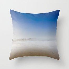Berrow Beach Throw Pillow