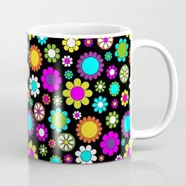 Mod Flower Pattern Coffee Mug