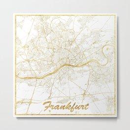 Frankfurt Map Gold Metal Print