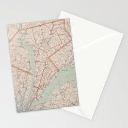 Vintage Map of Westchester County NY (1893) Stationery Cards