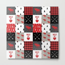 Wild At Heart Lumberjack Quilt Pattern Metal Print