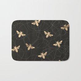 Busy Bees (Black) Bath Mat