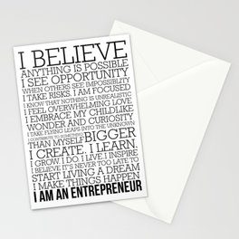 Entrepreneur Manifesto Stationery Cards