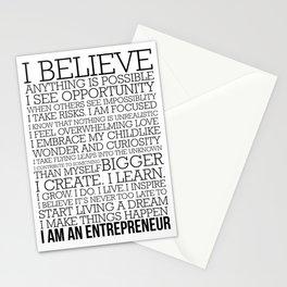 Entrepreneur Manifesto Stationery Cards