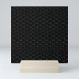 Dark Tech hexagon 02 Mini Art Print