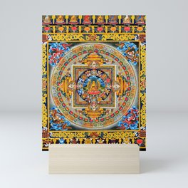 Buddhist Mandala Gold Tangka Wisdom Mini Art Print