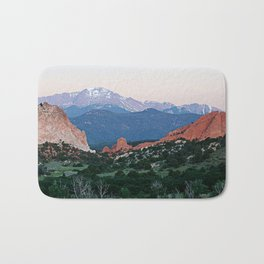 Sunrise at Garden of the Gods and Pikes Peak Bath Mat