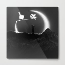 THE BOY AND THE BIRD Metal Print
