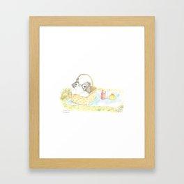 "Arare The Japanese chin ""PICNIC"" Framed Art Print"