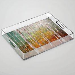 Birch Tree Forest Acrylic Tray