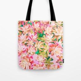 Cactus Fall - Pink and Green Tote Bag