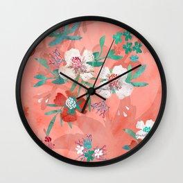 botanica watercolor Wall Clock