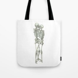 Skeleton Kissing Couple: I will love you Forever Tote Bag